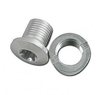 Śruba tarczy aluminiowa srebrna